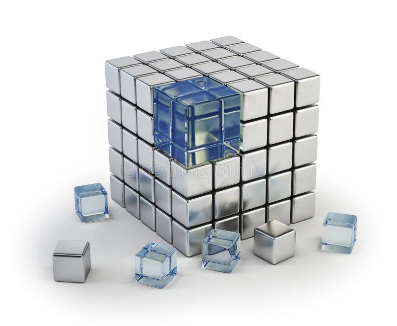 кубик различный иллюстрация штока