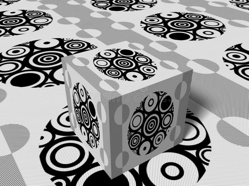 кубик 3d иллюстрация штока