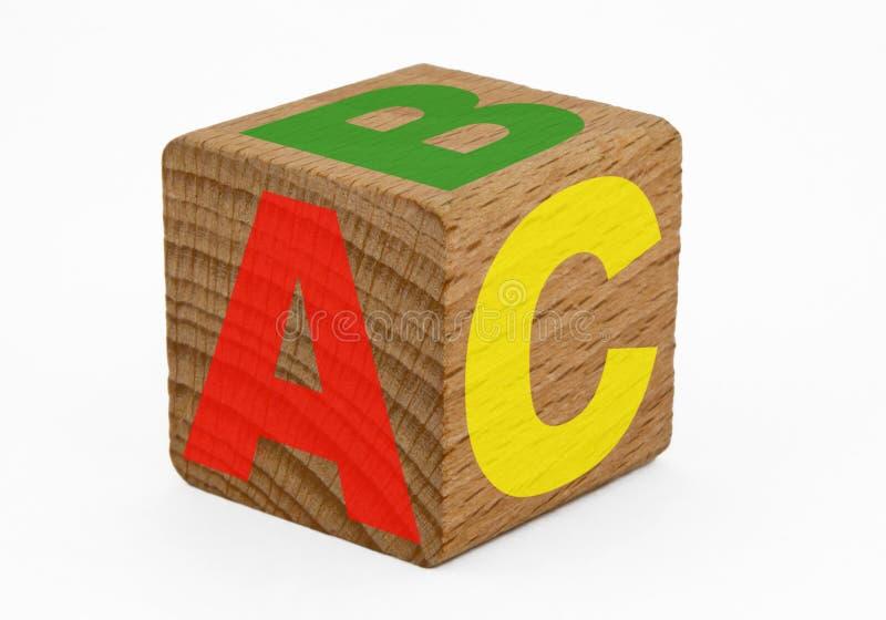 кубик abc деревянный стоковые фотографии rf