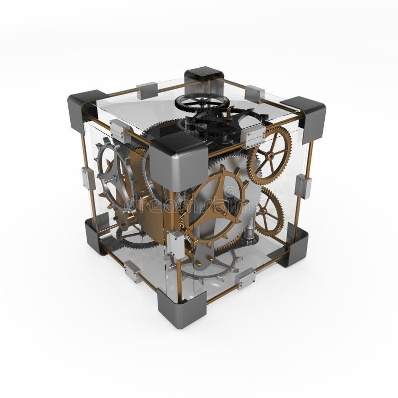 кубик clockwork иллюстрация штока