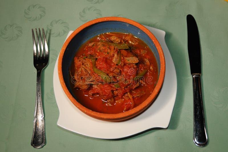 кубинское vieja ropa тарелки стоковое изображение