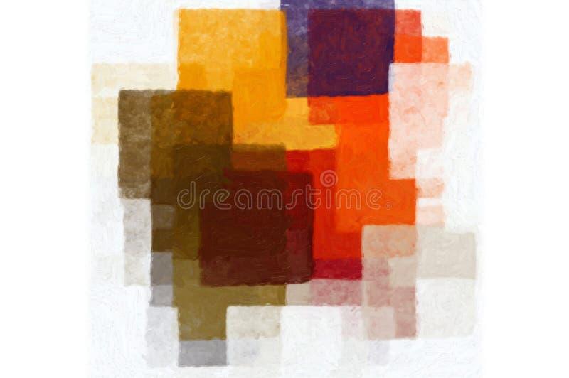 кубистическая картина иллюстрация вектора