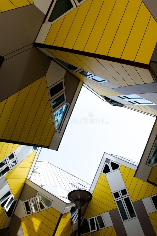 Кубические дома Kubuswoningen стоковые фотографии rf