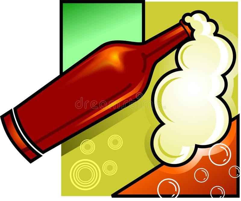 кубок бутылки иллюстрация вектора
