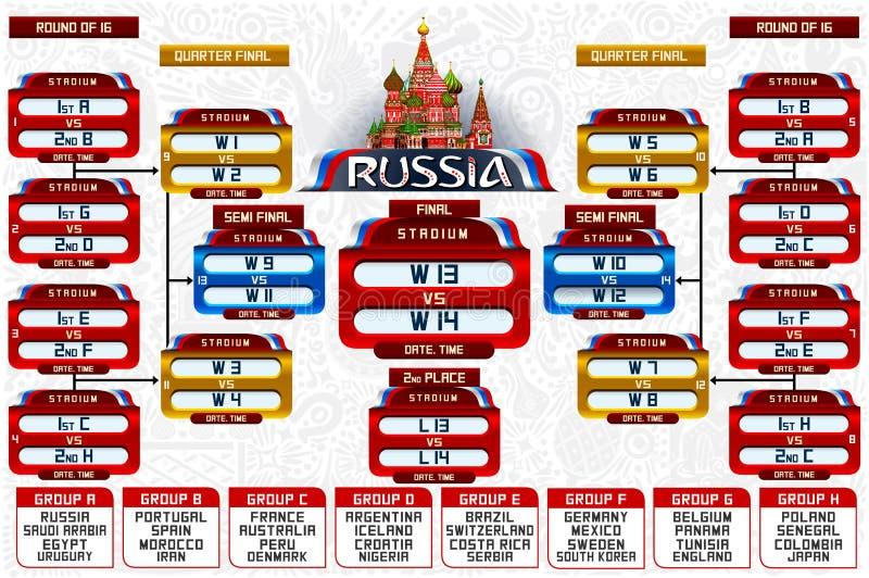 Кубок мира России собирает план-график иллюстрация вектора
