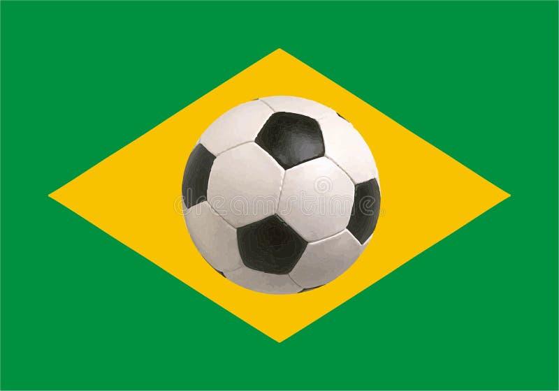 Кубок мира 2014 флага Бразилии иллюстрация штока
