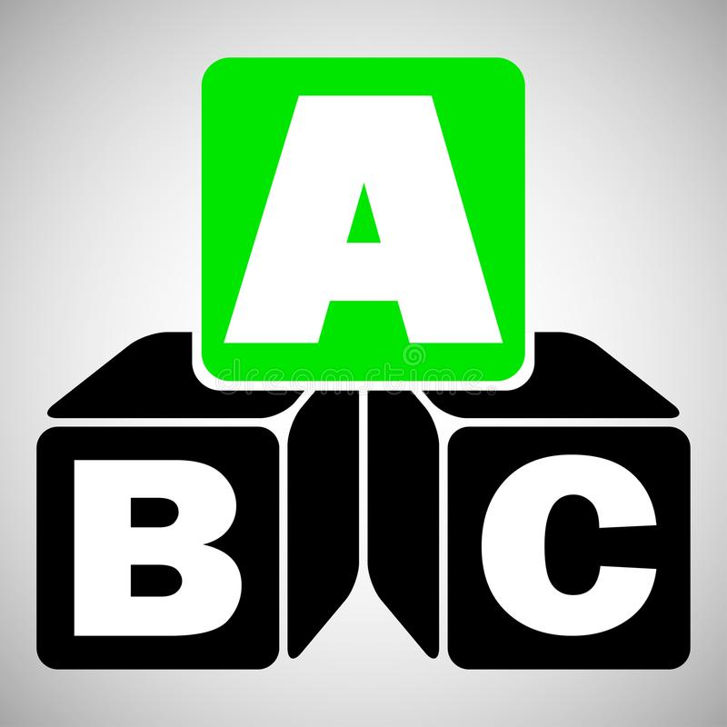 Кубы алфавита с a, b, письмами c бесплатная иллюстрация
