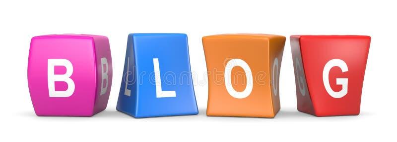 Кубы блога смешные бесплатная иллюстрация