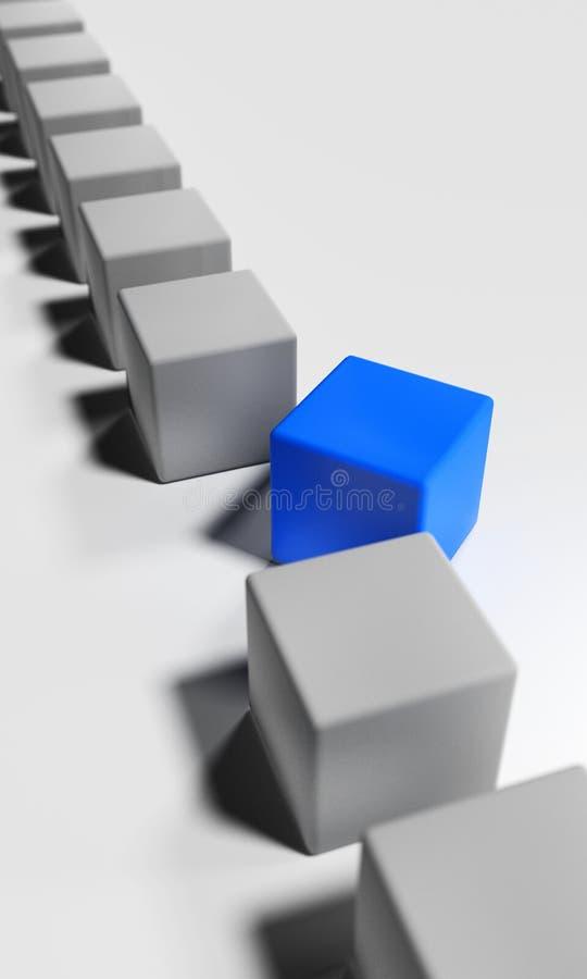 Кубы в строке Камень ломает из линии Метафора для индивидуальности иллюстрация штока