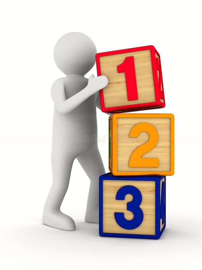 Кубы детских игр на белой предпосылке иллюстрация 3d иллюстрация штока
