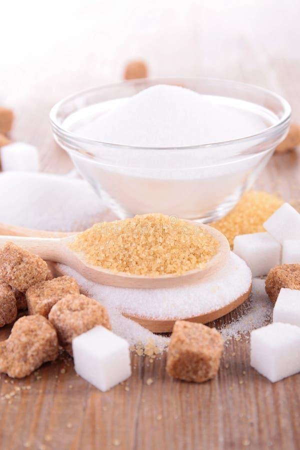 Кубы и тросточка сахара стоковое фото