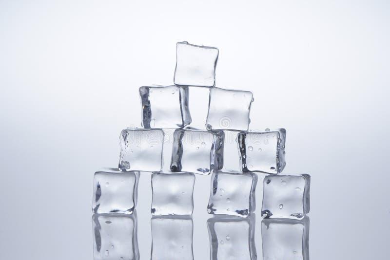 Кубы льда расплавили стоковое изображение