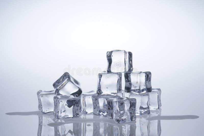 Кубы льда расплавили стоковая фотография