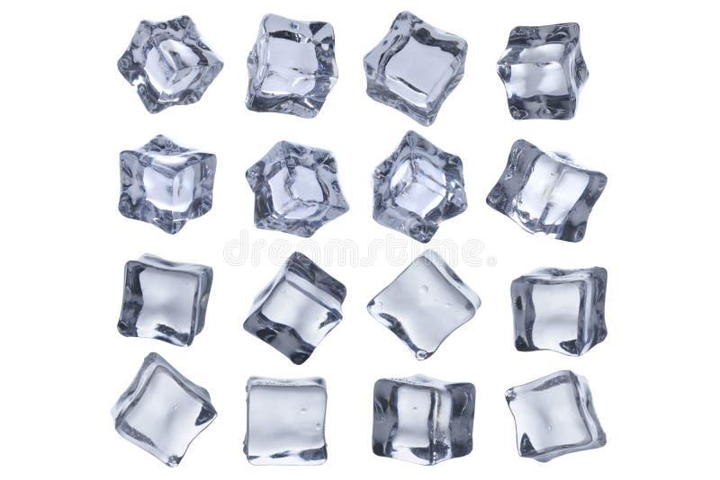 Кубы льда расплавили стоковая фотография rf