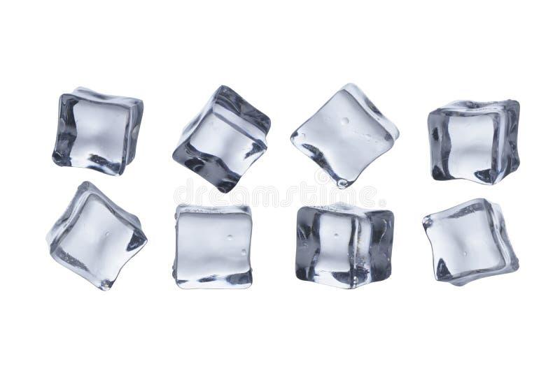 Кубы льда расплавили стоковое фото