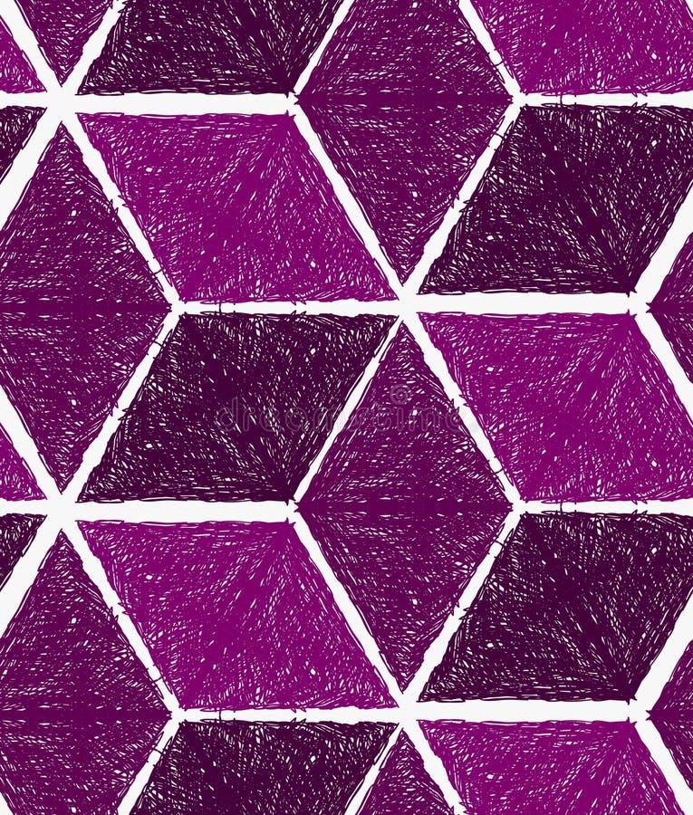 Кубы насиженные карандашем фиолетовые иллюстрация вектора