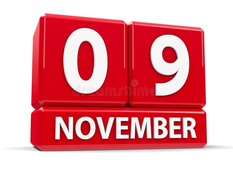 Кубы 9-ое ноября иллюстрация вектора