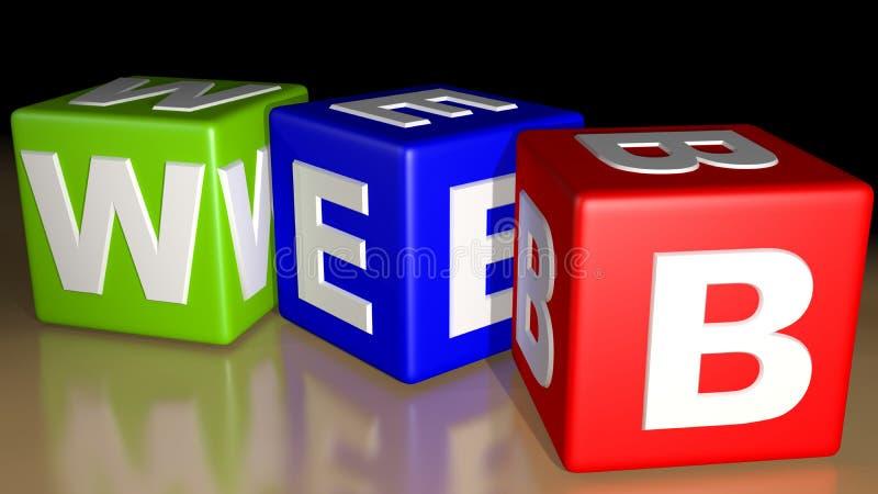 Кубы покрашенные СЕТОЙ бесплатная иллюстрация