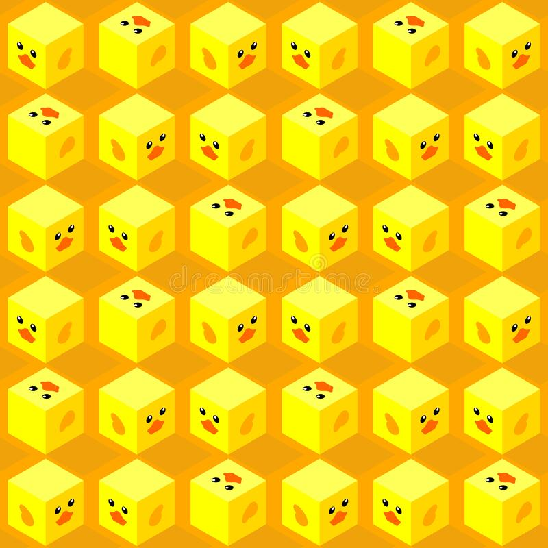 Кубы современной милой стороны утки равновеликие безшовные стоковые фотографии rf