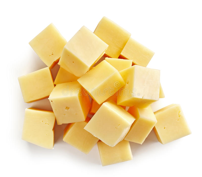 Кубы сыра стоковая фотография rf
