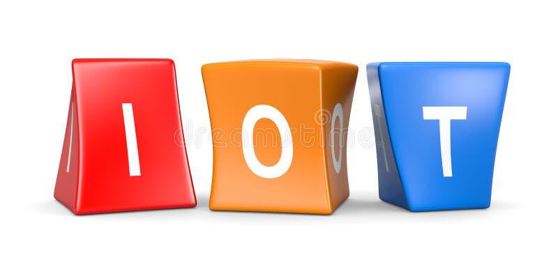 Кубы IOT смешные бесплатная иллюстрация