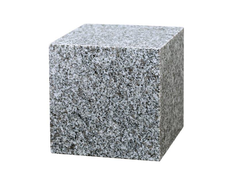 Куб гранита стоковые изображения rf