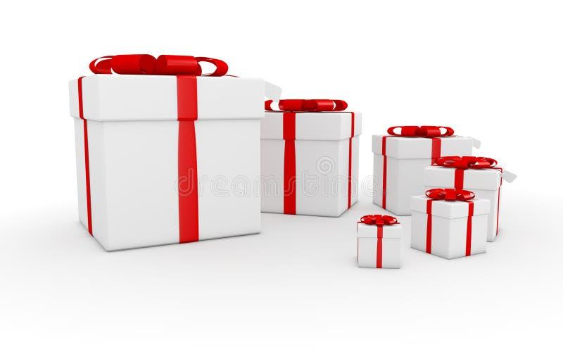 Куб подарка иллюстрация вектора
