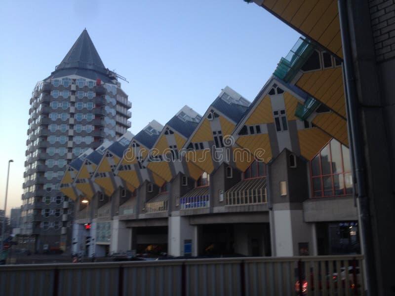 Куб расквартировывает Роттердам стоковое фото rf