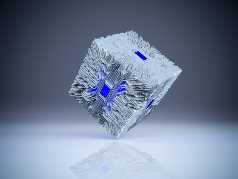 куб цепи 3d иллюстрация штока