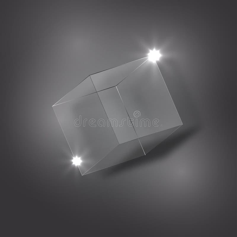 Куб льда на предпосылке классн классного иллюстрация штока
