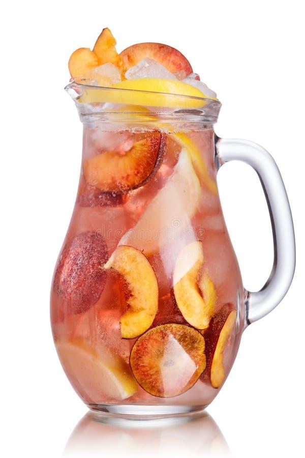 Кувшин лимонада персика стоковая фотография