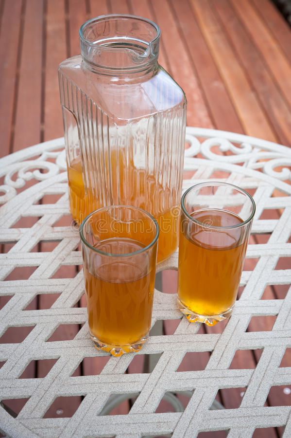 Кувшин чая icead стоковое фото