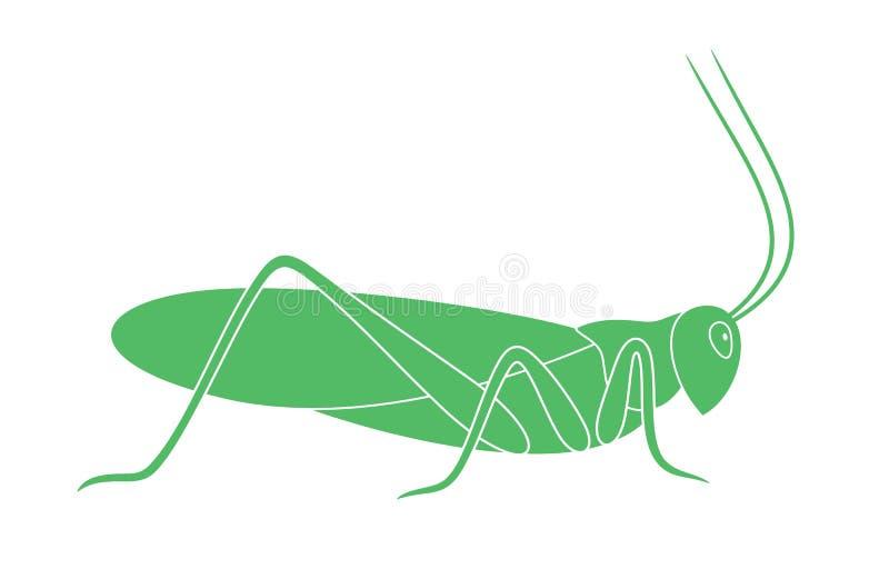 Кузнечик насекомое иллюстрация штока