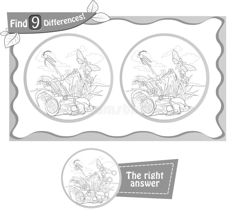 Кузнечик разницах в находки 9 иллюстрация штока