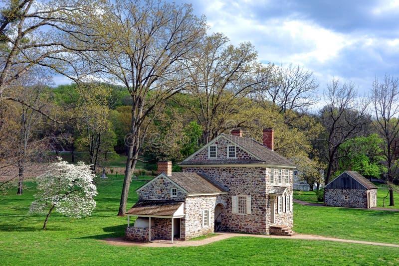 Кузница Джордж Вашингтон долины размещает штаб место стоковые фото