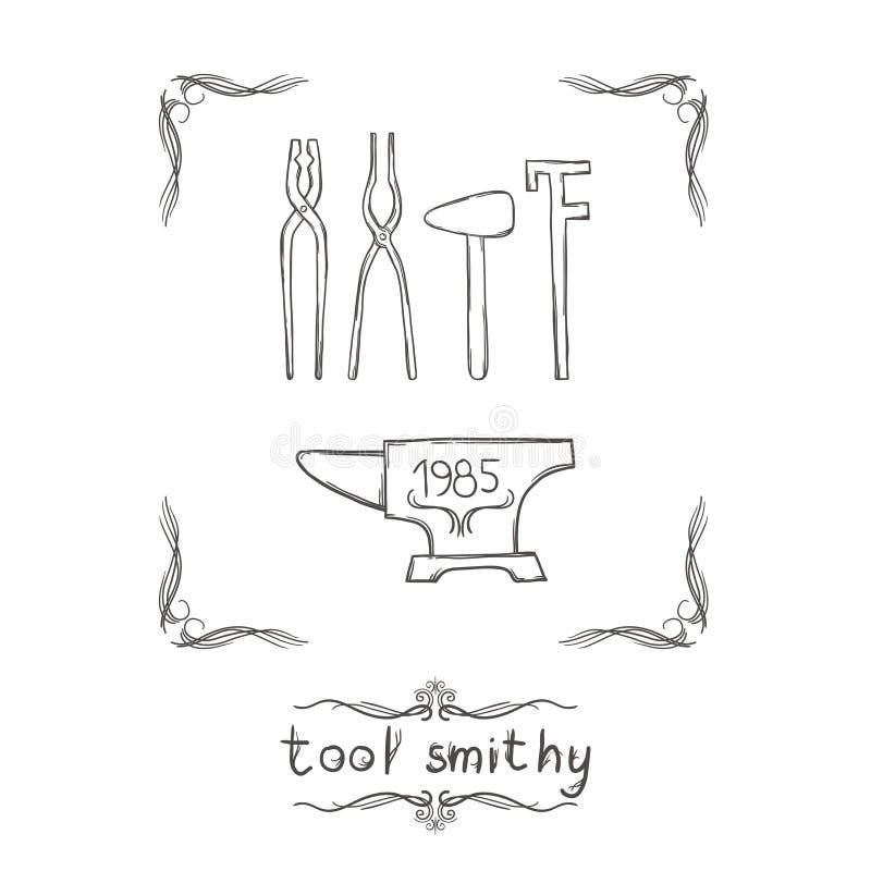 Кузница 4 инструмента бесплатная иллюстрация