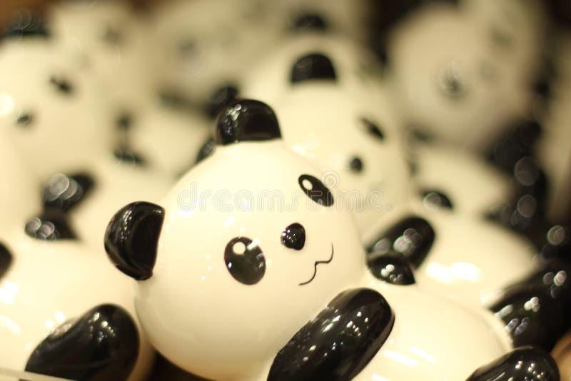 Кукла панды сделанная керамического стоковая фотография rf