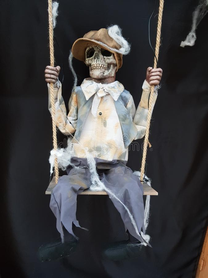 Кукла caravel хеллоуина стоковое фото rf