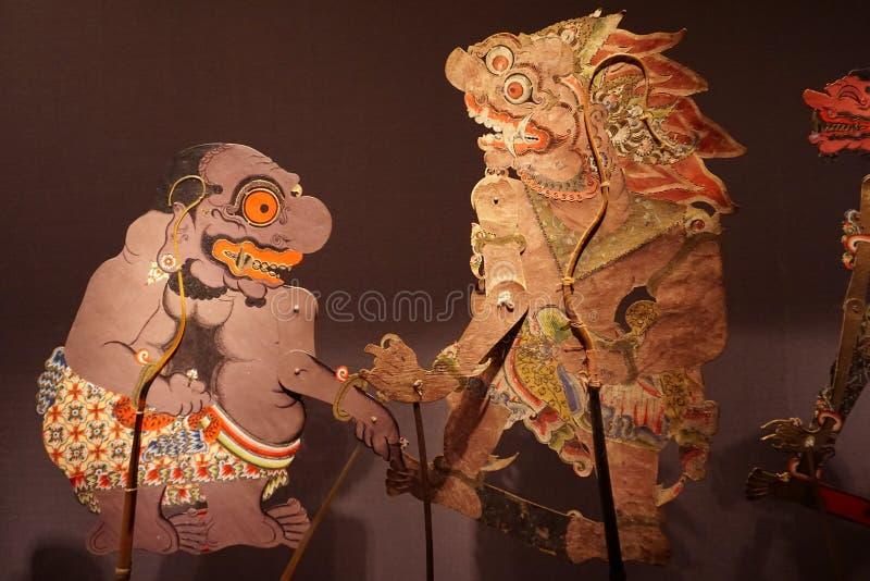 Куклы марионетки Центральная Ява, Индонезия Kulit Wayang стоковые изображения rf