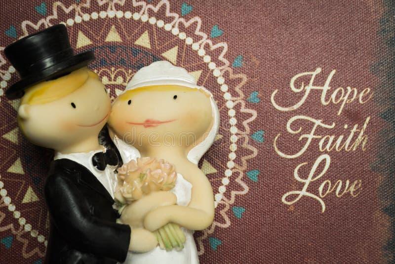Куклы свадебного пирога стоковое изображение