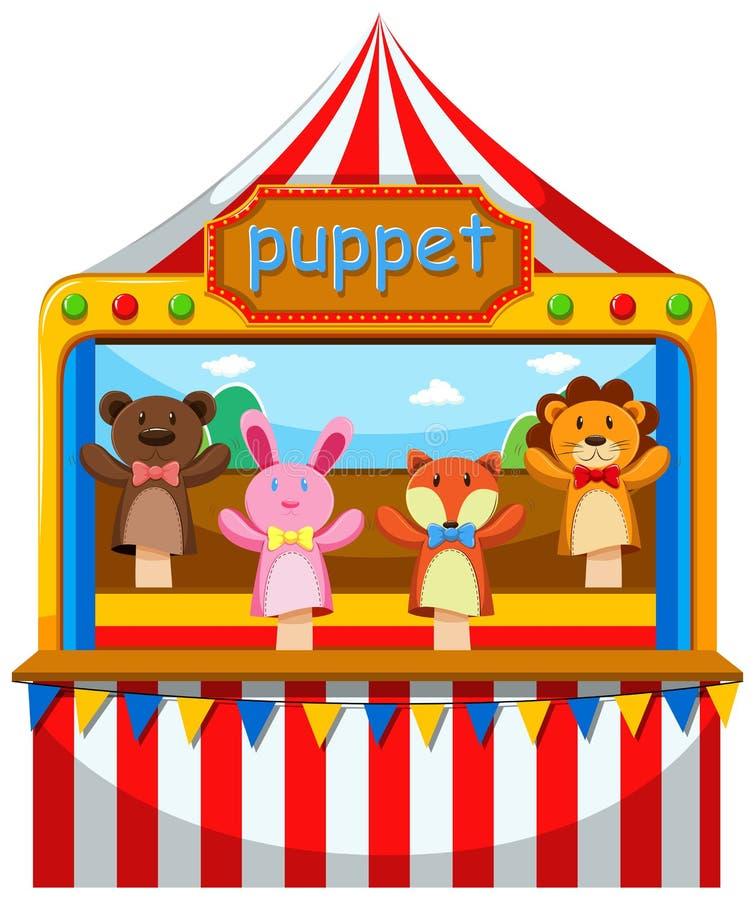 Кукольный театр и этап иллюстрация вектора