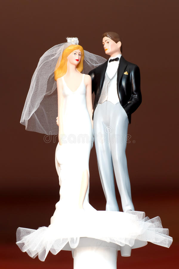 Кукла венчания пар стоковая фотография rf