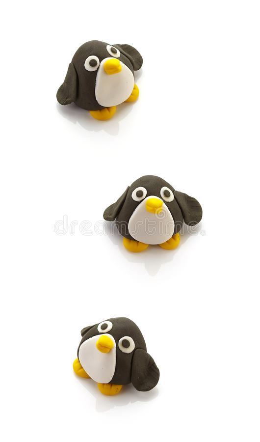 Кукла 3 пингвинов стоковые фото
