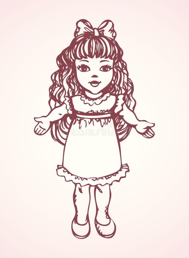 Кукла предпосылка рисуя флористический вектор травы бесплатная иллюстрация