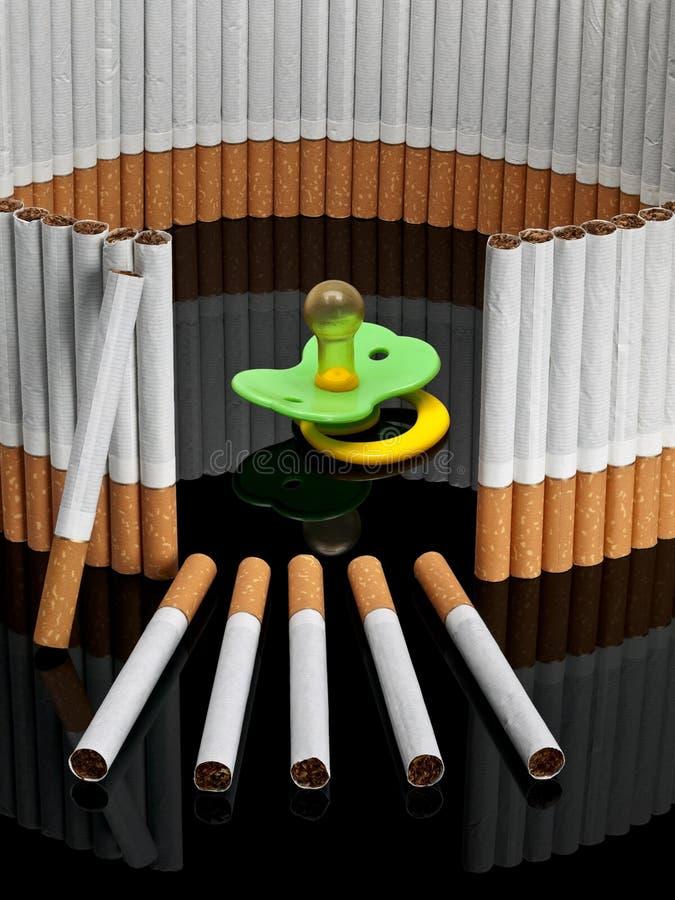 Куклы детей за завершенной загородкой от сигарет стоковая фотография rf