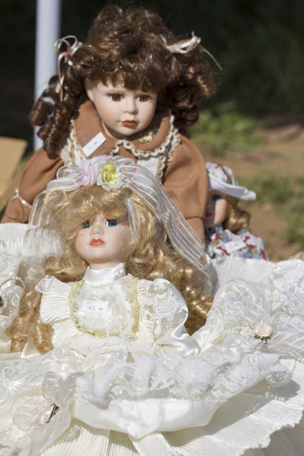 Куклы фарфора ностальгии стоковые изображения rf