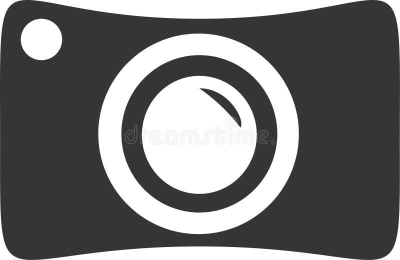 Кулачок потехи - тонкая камера шаржа иллюстрация вектора
