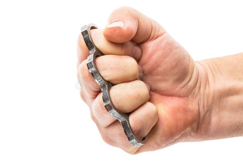 Кулачок с латунными костяшками стоковые фотографии rf