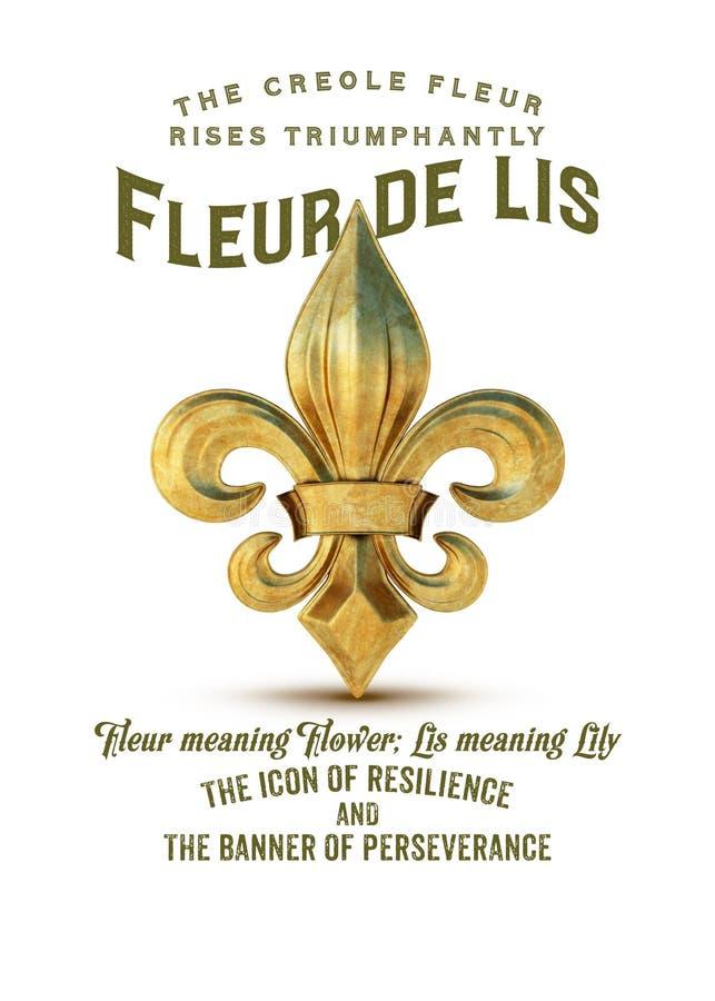 Культура Собрание Fleur de Lis Нового Орлеана иллюстрация штока