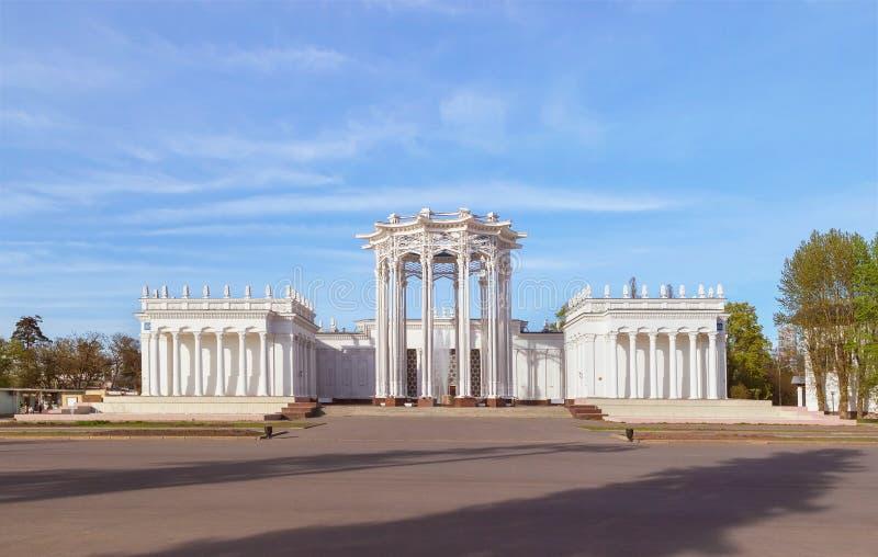 ` Культуры ` павильона на VDNH moscow Россия стоковые изображения